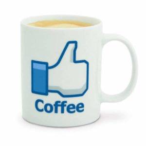 facebook like Kaffeetasse