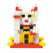 Nanoblock Maneki Neko für Glückskatze, 3D-Puzzle, Mini Collection, 150 Teile