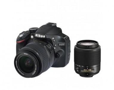 Nikon D3200 Kit 18-55 mm + 55-200 mm [Nikon G ED II + Nikon G ED]