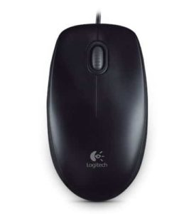 LOGITECH B100 optical Mouse black USB for Business