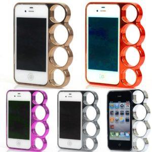 Zestyle Für iPhone 5 Knuckle Hülle Case Cover Schlagring Bumper Schutz Chrome Silber Ring (Gold)