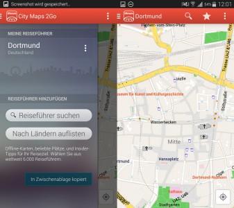 City Maps 2Go Offline-Karten