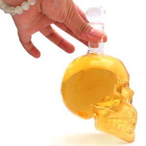 skull schädel flasche glas