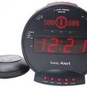Geemarc Sonic Bomb Wecker mit Vibration (113 dB)