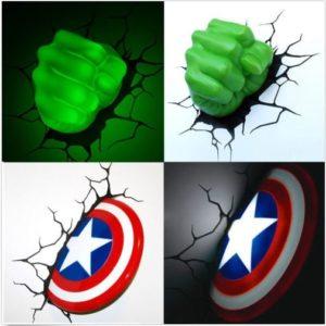 3d lampen dekolicht avengers hulk captain amerika