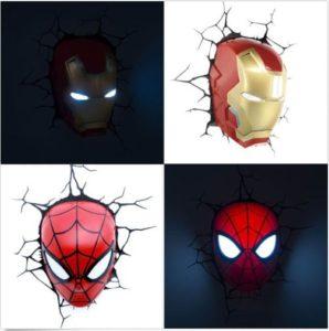 3d lampen dekolicht avengers ironman spiderman
