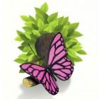 3D LED Dekolicht-pink-butterfly-lampe-1-0