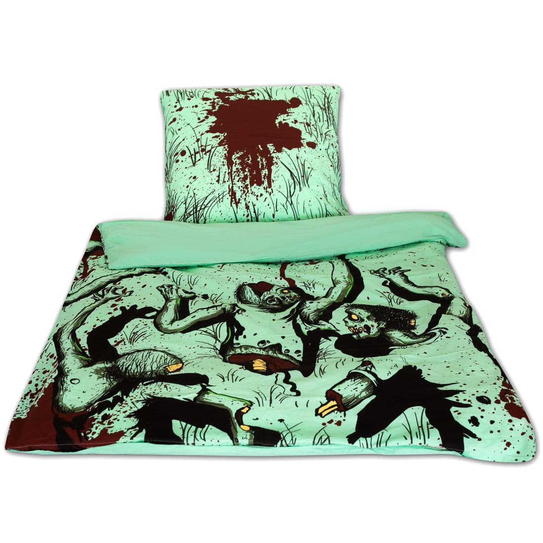 zombie bettw sche ab 44 g nstig kaufen 02 2018. Black Bedroom Furniture Sets. Home Design Ideas