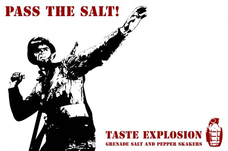 Salz- und Pfefferstreuer Handgranaten schwarz weiß