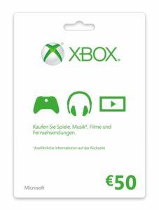 xbox card 50€ karte