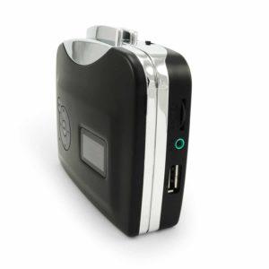 Incutex Kassette zu MP3 konvertierer ohne PC, tragbarer USB Kassettenspieler