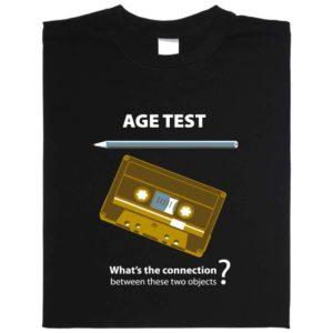 Age Test t-shirt kassette + bleistift