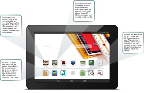 ODYS Study Tab 8 Zoll Tablet