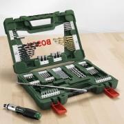 Bosch 91-teiliges V-Line Titanium-Set zum Bohren und Schrauben, inkl. Ratschen-Schraubendreher