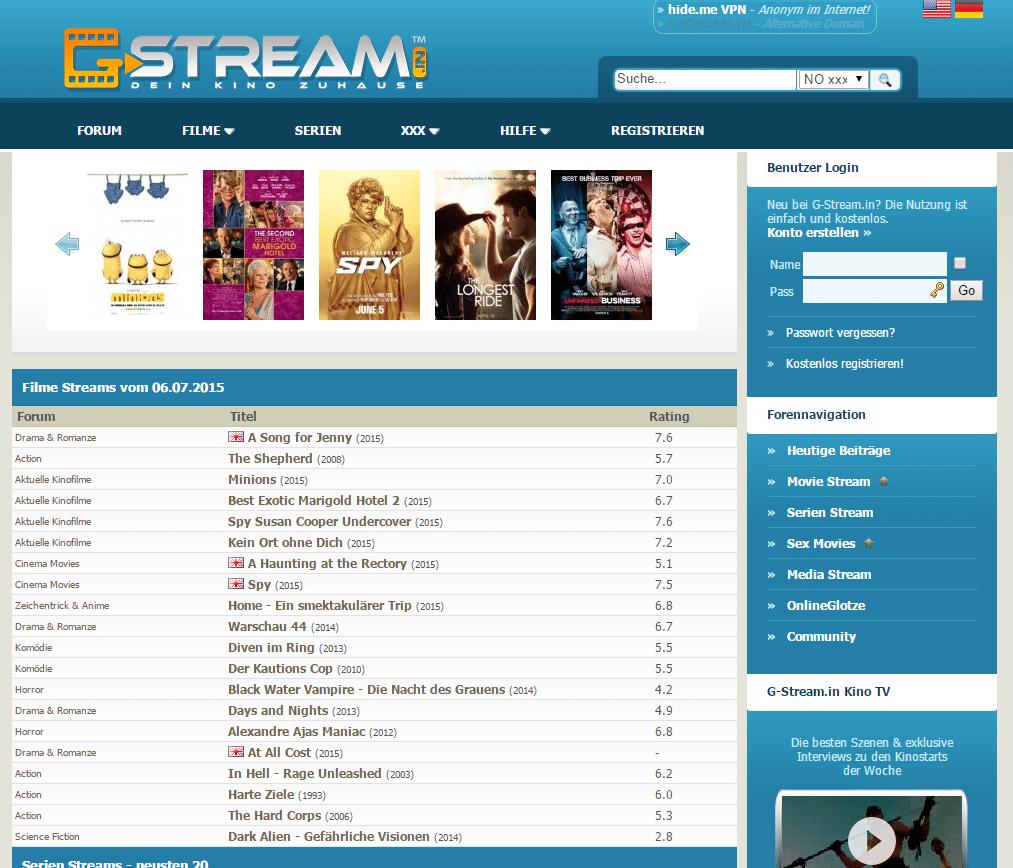 G Stream.to 20/20 20 legale & kostenlose Alternativen