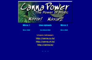 Die CannaPower Startseite (Stand 09.07.2015)
