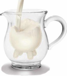 Doppelwandiges Milchkännchen mit witzigem Euterdesign
