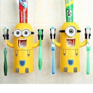 Minions Zahnpasten-Spender und Zahnbürsten-Halter