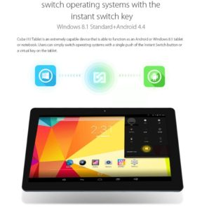 Cube I10 Android 4.4 + Windows 8.1 10.6 inch Tablet PC Intel Z3735 2GB RAM 32GB ROM
