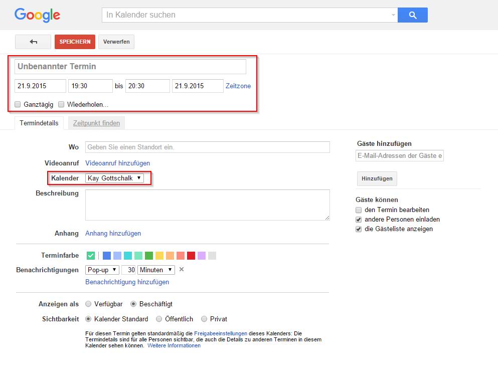 Google Calendar: Erinnerung hinzufügen - Anleitung (06/2018)