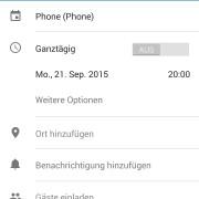 Google Calendar: Erinnerung via App hinzufügen