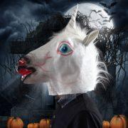 halloween maske unicorn einhorn