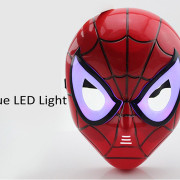 halloween maske spidermanled beleuchtung