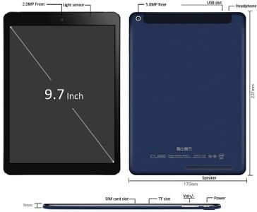 Cube I6 3G Air 9.7