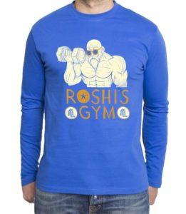 Roshis Gym Pullover Sambosa Super Son Goku Blue God Modus Herren Longsleeve Sweatshirt Pullover