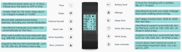 hesvit s3 intelligente Armbanduhr mit Fitness-Tracker