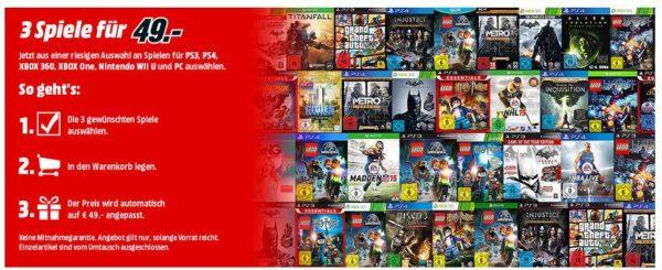 mediamarkt 3 für 49 games auswahl spiele