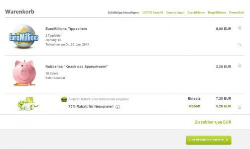 Lottoland.com EuroMillionen tippschein rubbellos knack das sparschwein