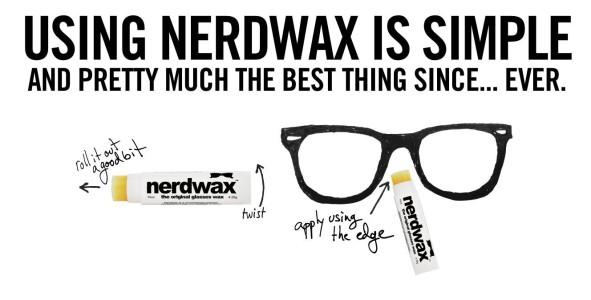 Nerdwax hält die Brille am Platz