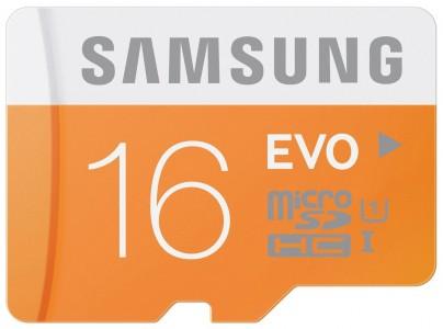 Samsung Speicherkarte MicroSDHC 16GB EVO UHS-I Grade 1 Class 10