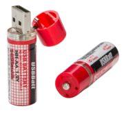 2x USB Batterie AA Mignon Akku