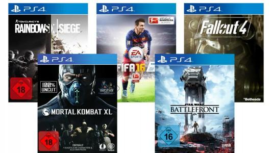 Mortal Kombat XL Fallout 4 Rainbow Six Siege Star Wars Battlefront Fifa 16 ebay.de