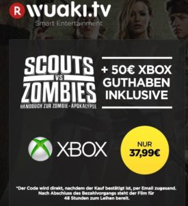wuaki.tv scouts vs Zombies 50€ xbox live guthaben