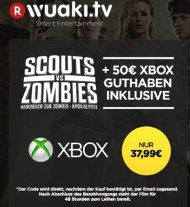 wuaki.tv scouts vs Zombies 50€ xbox live guthaben