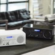 Scansonic DA 310 DAB+ Radio Weiß schwarz