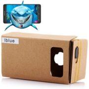 Blue DIY Cardboard 3D VR Glasses Smart vr brille
