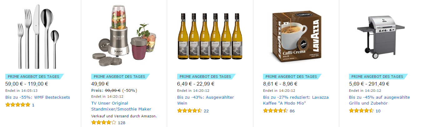 Amazon PRIME ANGEBOT DES TAGES online kaufen (12/2016)
