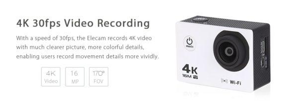 V3 4K WiFi Sport Camera 16MP