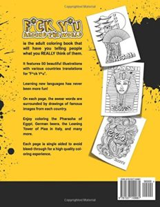 F*ck Y*u Around the World: Swear Word Coloring Book (Englisch)