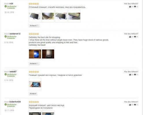 beispielhafte LightInTheBox-Produktbewertungen