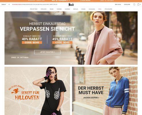 SheIn.com - Startseite (Stand 18.10.2016)
