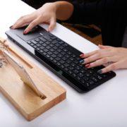 UMI Deutsche Bluetooth Tastatur Ultradünn Kabellose QWERTZ