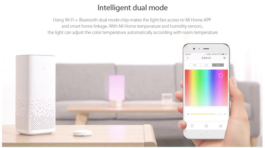 Xiaomi Mijia LED Nachttischlampe Smartphone App