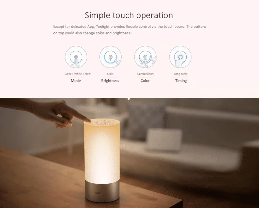 Xiaomi Mijia LED Nachttischlampe Funktionen