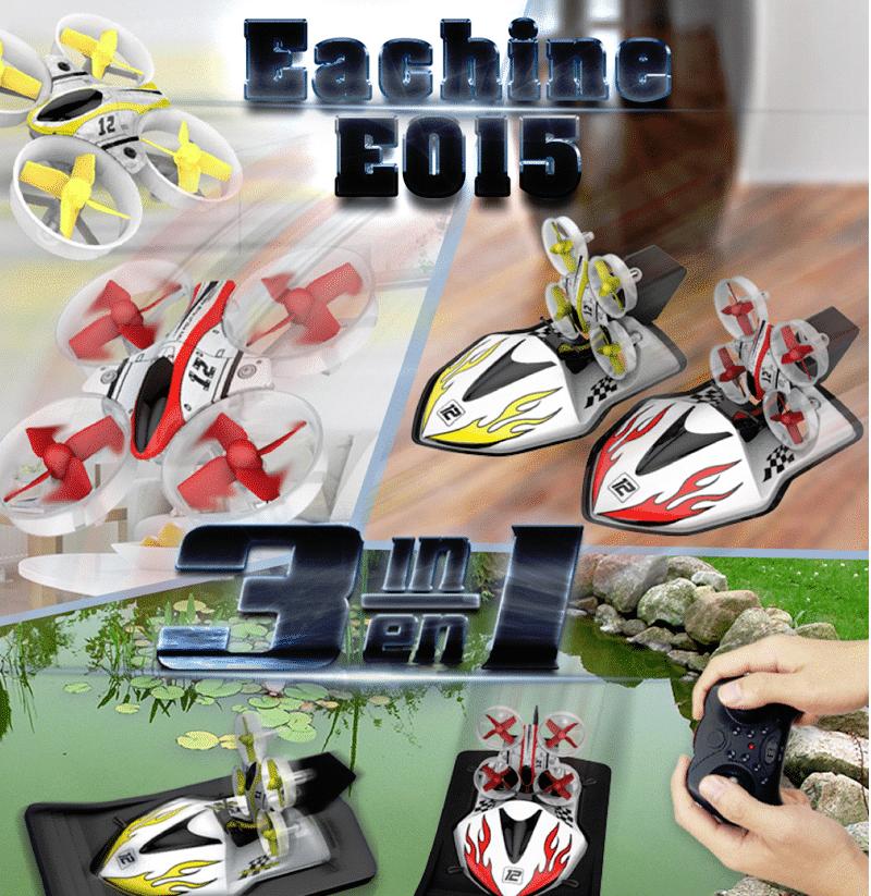 Eachine E015 3-1 Quadcopter ,boot, RC-Auto