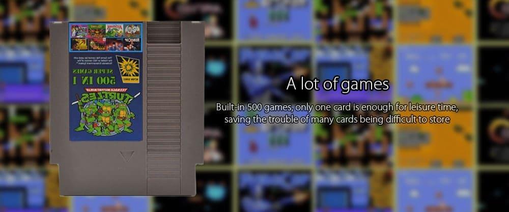 NES Cartridge mit 500 in 1 Spielen